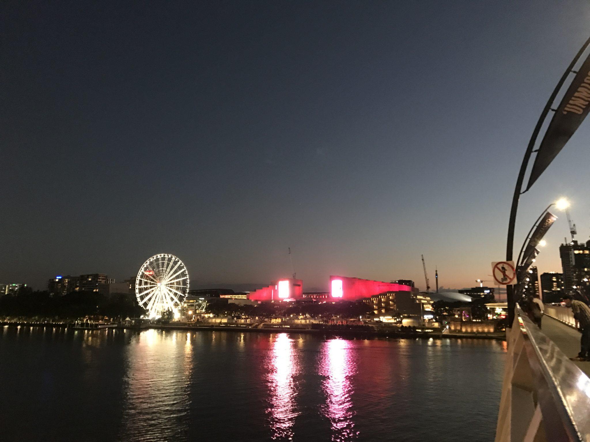 澳洲布里斯班五天四游攻略布里斯班南岸夜景Brisbane Southbank Nightview