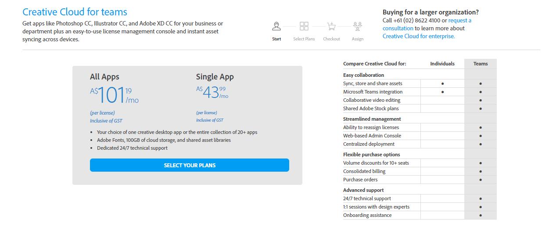 Adobe Creative Cloud Student Discount Price 学生折扣价钱