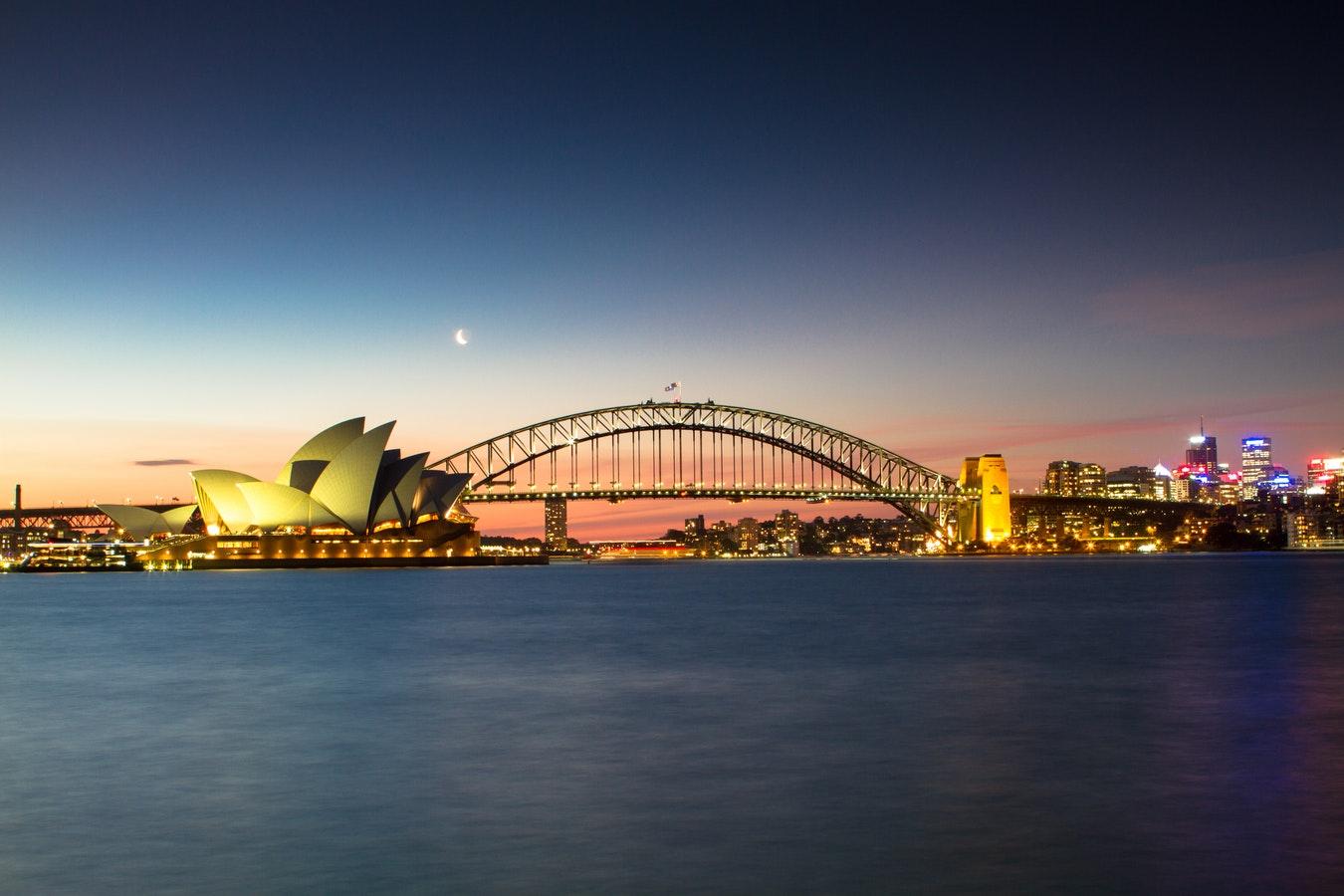 澳洲留学悉尼夜景