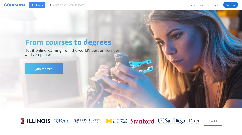 网络学习平台Coursera