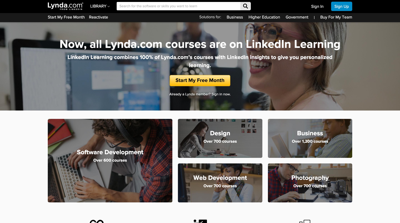 网络学习平台Lynda