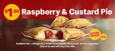 麦当劳折扣 树莓馅饼
