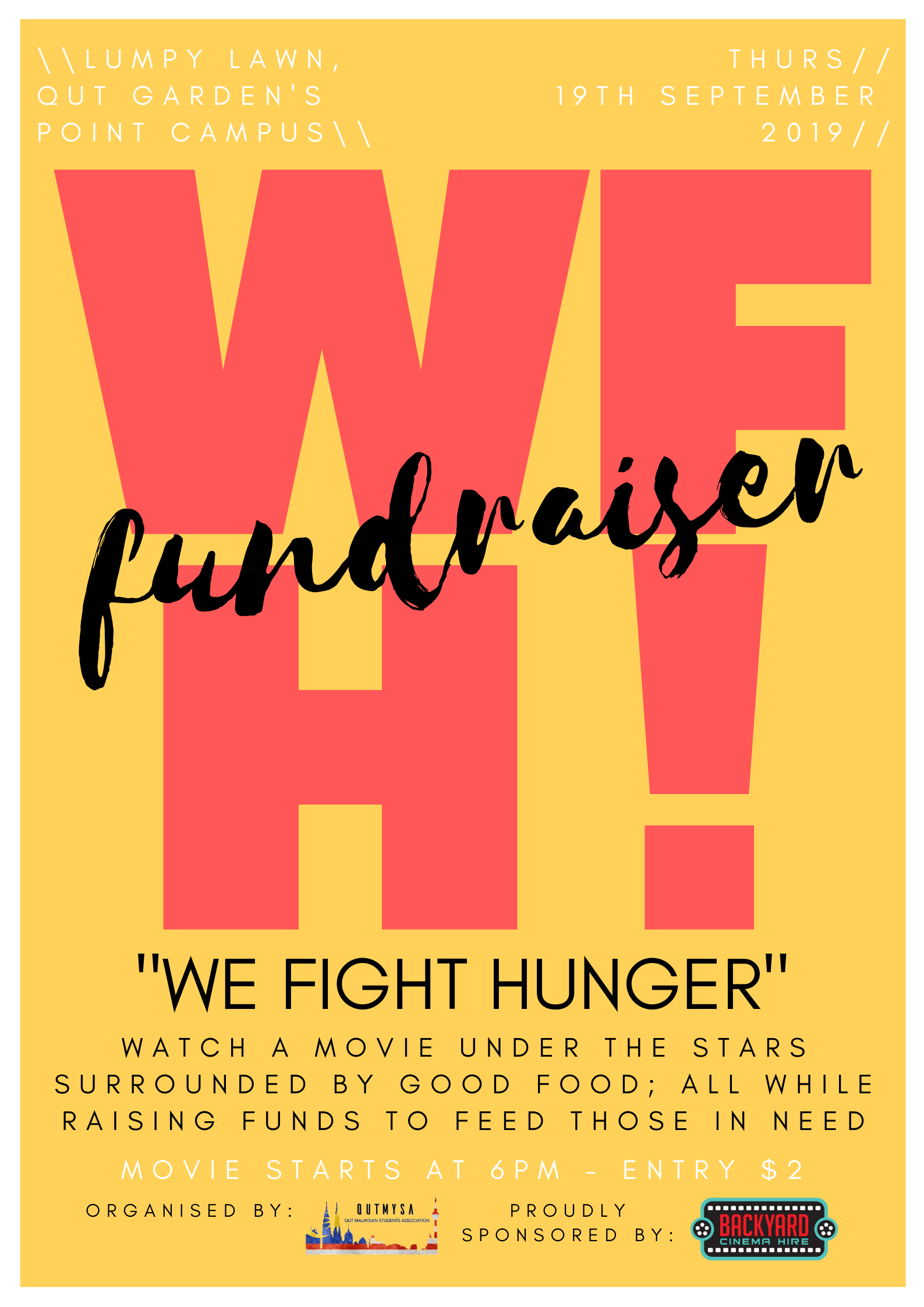 We Fight Hunger (WHF!)- QUTMYSA
